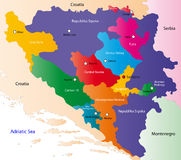 Bosnia and Herzegovina map royalty free stock photography