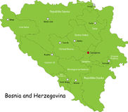 Bosnia and Herzegovina map royalty free stock photos