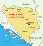Bosnia and Herzegovina - vector map Stock Photography