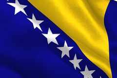 Bosnia herzegovina national flag Royalty Free Stock Image