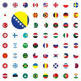Bosnia and Herzegovina round flag icon. Round World Flags Vector illustration Icons Set. Bosnia and Herzegovina round flag icon. Round World Flags Vector Stock Photos