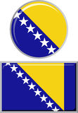 Bosnia and Herzegovina round, square icon flag Stock Photos