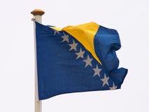 Bosnia Herzegovina's flag. The Bosnian flag stock photos