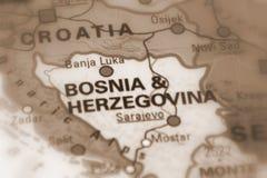 Bosnia and Herzegovina - Europe. Bosnia and Herzegovina selective sepia focus Royalty Free Stock Photography