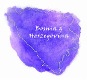 Bosnia & Herzegovina vector map illustration Royalty Free Stock Photography
