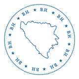 Bosnia and Herzegovina vector map sticker. Royalty Free Stock Images