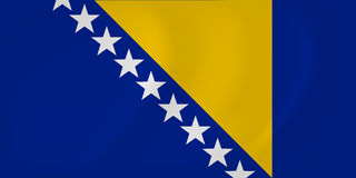 Bosnia and Herzegovina waving flag Stock Photo