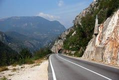 Bosnia and Herzegovina. Winding mountain road near Sarajevo in central Bosnia and Herzegovina Royalty Free Stock Images