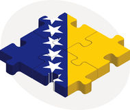 Bosnia Herzegovinan Flag in puzzle Royalty Free Stock Photo