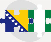 Bosnia Herzegovinan and Nigerian Flags in puzzle Stock Photo