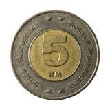 5 Bosnia i Herzegovina odwracalna ocena ukuwają nazwę 2009 awers obraz stock