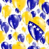 Bosnia Independence Day Seamless Pattern. Stock Photo