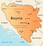 Bosnia map Royalty Free Stock Photo