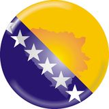 Bosnia map and flag Royalty Free Stock Photography