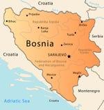 bosnia mapa Zdjęcie Royalty Free
