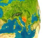 Bosnia on planet Royalty Free Stock Image