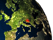 Bosnia from space Stock Photo