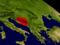 Bosnia from space Stock Image