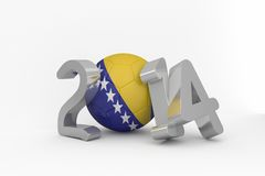 Bosnia world cup 2014 Royalty Free Stock Photo