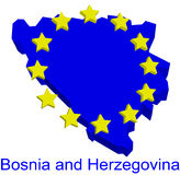 Bosnia y Hercegovina en la UE Imagen de archivo libre de regalías