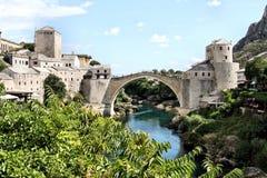 Bosnia y Hercegovina: Puente de Mostar Fotografía de archivo libre de regalías