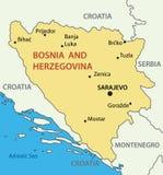 Bosnia y Herzegovina - mapa Fotografía de archivo