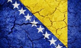 Bosnia y Herzegovina señala por medio de una bandera Imágenes de archivo libres de regalías