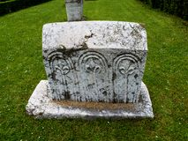 Bosnian authentic tombstone. Stecak Stechak is the name for monumental medieval tombstones that lie scattered across Bosnia and Herzegovina, and the border parts Royalty Free Stock Image