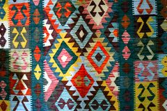 Bosnian Carpet, patterns and colors Royalty Free Stock Photos