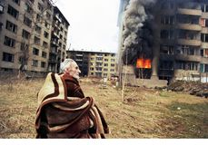 BOSNIAN CIVIL WAR Stock Images