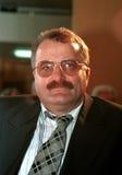 BOSNIAN CIVIL WAR. PALE, BOSNIA, 12 JUNE 1996 - Bosnian Serb prime minister Gojko Klickovic, seen here during a session of the Bosnian Serb parliament Royalty Free Stock Image