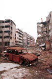 BOSNIAN CIVIL WAR. SARAJEVO, BOSNIA, 01 DECEMBER 1996 --- The city of Sarajevo stands in ruin after three years of siege and civil war Stock Photos