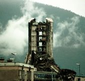 BOSNIAN CIVIL WAR. SARAJEVO, BOSNIA, 20 NOVEMBER 1993 -- The destroyed offices of the Bosnian daily newspaper Oslobodjenia continue to stand in the besieged city Royalty Free Stock Photography