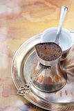 Bosnian coffee. Served in sarajevo cafe Stock Images