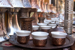 Bosnian coffee set royalty free stock photos