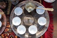 Bosnian coffee set stock photography