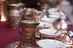 Bosnian coffee set Royalty Free Stock Photos