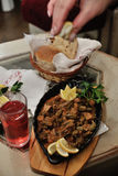 Bosnian food. Setting the table with the Bosnian / Turkish food Stock Images