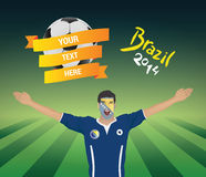 Bosnian football fan. With banner and text Stock Image
