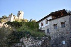 The Bosnian medieval town of Počitelj stock photo