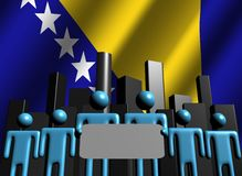 Bosnian team with abstract skyline Stock Photography