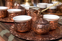 Bosnian turkish coffee set Stock Image