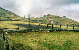 Bosnian village in the mountains Royalty Free Stock Photos