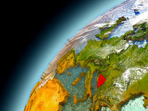 Bosnien från omlopp av modellen Earth Royaltyfri Fotografi