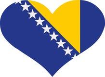 Bosnien Herzegovina-Flaggenherz vektor abbildung