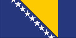 Bosnien Herzegovina-Flaggenvektor vektor abbildung