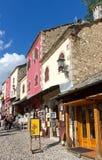 Bosnien - herzegovina mostar shopping Arkivbilder