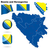 Bosnien - herzegovina set royaltyfri illustrationer