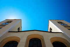 BOSNIEN - Medjugorje - kyrkan Royaltyfria Foton