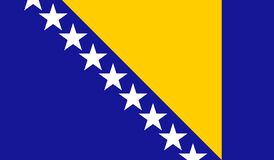 Bosnien och Hercegovina sjunker vektor illustrationer